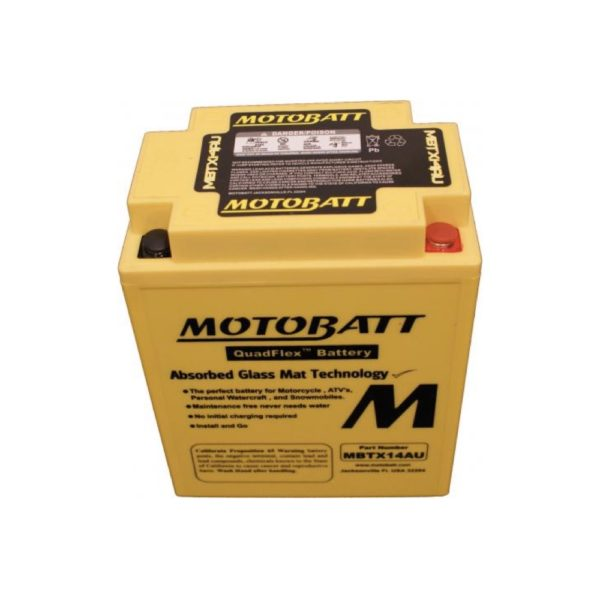 Motobatt MBTX14AU | Motorcycle Battery | DCPower Batteries