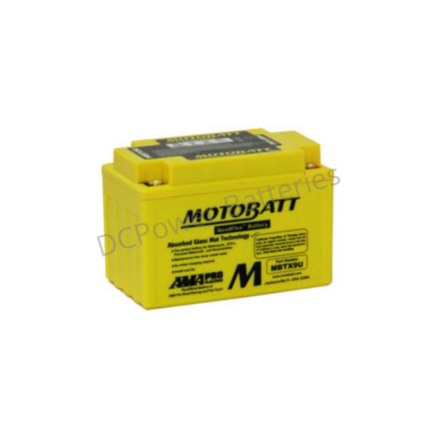 Motobatt MBTX9U   Motorcycle Battery