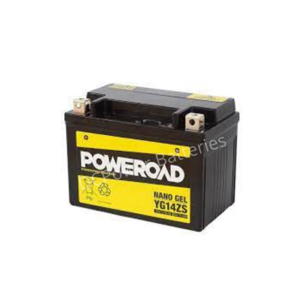 Poweroad YG14ZS   Motorcycle Battery