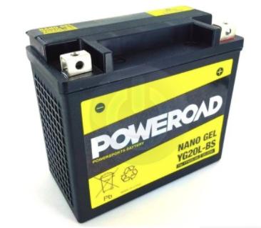 Poweroad YG20L-BS Motorcycle Battery